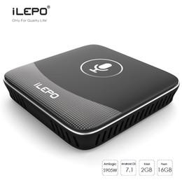 Wholesale Google Os - iLEPO i18 Smart Voice Control Andorid TV Boxes Google TV OS Amlogic S905W 2GB 16GB 4K Media Player IPTV Stalker Better X96 mini MXQ Pro