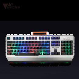 2019 clavier mécanique rétro-éclairé câblé Gaming Wired Mechanical Keyboard 104 touches Real RGB Blue Switch LED rétro-éclairé Anti-Ghosting pour la conception de joueurs professionnels promotion clavier mécanique rétro-éclairé câblé