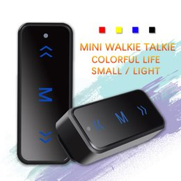 Wholesale Mini Uhf Radio - 2pcs VV-108 Mini Portable Walkie Talkie Ham Two-Way Radio Transceiver UHF 400-480MHz with USB Power Supply Earpieces