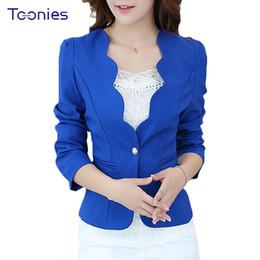 Wholesale workwear long sleeve - New Women Autumn Fashion OL Blazer Suit Femme Long Sleeve Solid Candy Color Jacket Jaqueta Feminina Mujer Workwear Blaser Coat