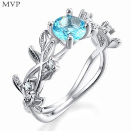 artificial rings women Coupons - FANALA Rings Women New Artificial Leaves Shape Fashion Jewelry Wedding Charm Ring