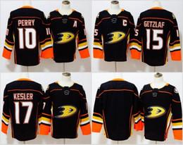 Wholesale Hockey Jersey Kesler - Cheap 2018 New Brand Ad Mens Anaheim Ducks 10 Corey Perry 15 Ryan Getzlaf 17 Ryan Kesler Korbinian Holzer Black Custom Hockey Jerseys