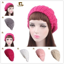 7d4f90aee3c Autumn Winter 2018 Women Headband Ladies Twist Knitting Woolen Beret Winter  Warm Fashion Elasticity Hat Hair Accessories Free Shipping military black  beret ...