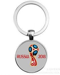 Wholesale Mascot Led - 2018 World Cup mascot key chain crown football key chain ornaments in stock.