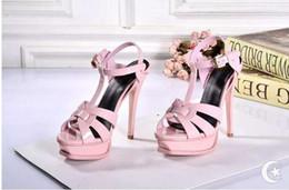 Wholesale High Heel Sandal Wholesale - women sandals sandalias new luxury fashion Celebrity summer patents leather Gladiator sexy platform high-heeled Mujer EMS free shipping