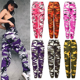 trousers military women Promo Codes - 2018 Hot Sale Women Fashion Camouflage Jogger Pants Military Harem Pants Trouser Ankle-Length Camo Pants long loose printed pant DH226