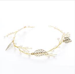 Deutschland Einfache Legierung gewebte Goldverzierungen Brautschmuck Hochzeit Haarband Kunst Dekoration Großhandel Versorgung