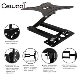 "Wholesale Iron Materials - Cewaal Iron Material 14-42"" LCD LED TV Mounts Bracket HD TV Tilt Wall Mount Stand Holder Bracket Mounts Foldable Swivel Black"