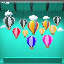 decorare palloncini Sconti Fuoco Balloons Mercato appeso accessori Handmade Pieghevole Seta Rete Hot Air Balloon Decorare Partito Prop Display Finestra 55bt3 V
