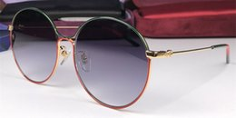 30cb9b1e58 Luxury new womens fashion designer sunglasses 0395 retro round frame trend  avant-garde stitching color style top quality uv400 sun Glasses