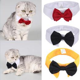2019 collar de perro pajarita mediano Mascota formal Pajarita Holliday Boda Collar de perro Ropa para perros Accesorios de disfraces Negro Rojo para gatos pequeños y medianos Perros mascotas