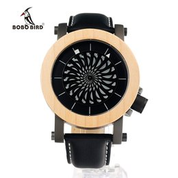 Wholesale Maple Watch - Wholesale- BOBO BIRD M07 Mens Mechanical Wristwatches Kinetic Art Skeleton Automatic Self-Wind Watch with Maple Bezel in Gift Wooden Box