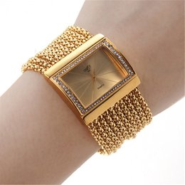 Wholesale Jade Beads Mm - ristwatch women gold New Hot Fashion Women Luxury Noble Dance Beads Wrist Quartz Watch Stainless Steel Casual Gold retro Silver Ladies Wr...