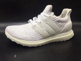 Wholesale Shoes Big Size Man - Big Size Men Ultra Boost 3.0 4.0 Ultraboost Running Shoes Sneakers women UB Sport Snowflake Core Triple Grey Black White 36-47