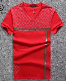 Wholesale Plus Size Designer Clothing - 2018 Wholesale clothing G Men's T-Shirts Full screen tiger printing hip hop clothing mens designer shirts plus size blue Khaki 167