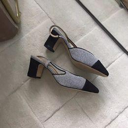 Chaussures habillées à la cheville en Ligne-Livraison gratuite chaussures pour femmes occasionnels sandales à fond épais talons hauts noir en cuir véritable Pumps femme robe de soirée chaussures