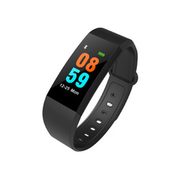 Wholesale Lcd Screen Watches - I9 Smart Wristbands fitbit fitness tracker 0.96 inch LCD Screen smart Bracelet Watch Heart Rate Blood Pressure Monitor