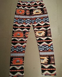 Wholesale leggings nordic - Xmas Snowflakes Reindeer Print Leggings 12 Colors Knitted Women Stretchy Pants Nordic Thick Warm Bootcut Christmas Gift