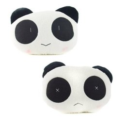 Wholesale Car Seat Lumbar Pillow - Soft Headrest Cute Panda Car Cushion Neck Back Lumbar Supports Rest Seat Pillow Styling
