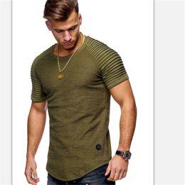2019 stilvolle männer t-shirts TOXHP2018 neue High-Street-Farbe Einfarbig T-Shirt T-Shirt Herren-Short-Sleeve-Farbe gestreift Faltung Schlankes, stylisches Casual T-Shirt rabatt stilvolle männer t-shirts