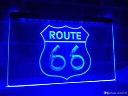 Wholesale led neon lighting - LB371b- Historic Route 66 Mother Road LED Neon Light Sign
