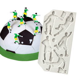 Wholesale Football Candy - Football Sports Series Silicone Cake Molds Sugarcraft Fondaont Jelly Candy Gumpaste Moulds Diy Bakeware Decoration YB200253