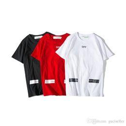 1fd8329b18f Summer Off Fashion White Black Red Tshirts for mens and womens Casual O  neck Cotton t-shirts Hip Hop tshirt Cross Arrows Printed SizeM-XXL