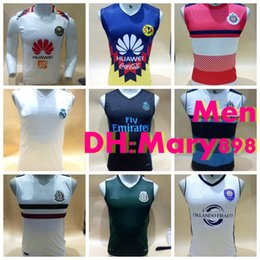 Wholesale Real Madrid Club - Best quality 2017-18 Mexico America Club vest soccer Jersey 2018 Real Madrid Chivas vest football shirts S M L XL