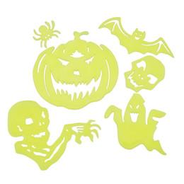 2019 lampeggiante tasto di ricerca leggera 8 pezzi Adesivi murali luminosi Halloween Giocattoli per bambini Halloween Casa Camera da letto Decorativi Decorativi Arte luminosa Adesivi Regali per bambini Adolescenti Adulti