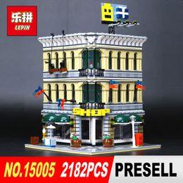 Wholesale toy city buildings - LEPIN 15005 2232Pcs City Creator Grand Emporium Model Building Blocks Bricks action Brick for Children Toy Compatible with 10211
