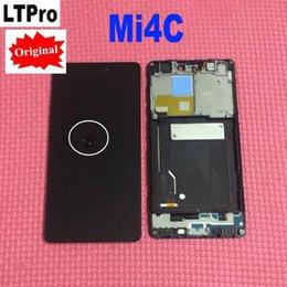 заменить экран телефона Скидка LTPro 100% тестирование работы ЖК-дисплей с сенсорным экраном дигитайзер Ассамблеи с рамкой для Xiaomi Mi4c Mi 4c M4c телефон замена частей