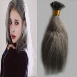 Tırnak U İpucu İnsan Saç Uzatma gri saç uzantıları 100g Gümüş Keratin Ön Gümrük İnsan keratin sopa İpucu saç uzantıları nereden