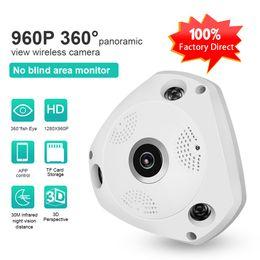 Wholesale Panorama Cameras - LS-QJ360 360 Degree VR Panorama Camera HD 960P Fisheye Lens Wireless WIFI IP Camera with two-way voice intercom p2p Indoor Camera ann