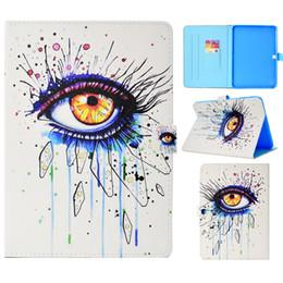 Etui Tablette Pour Samsung Galaxy Tab 4 10.1 pouce T530 T531 T535 Couverture Peinture PU Portefeuille En Cuir Sacs Fente Pour Carte fonction de Dormance ? partir de fabricateur