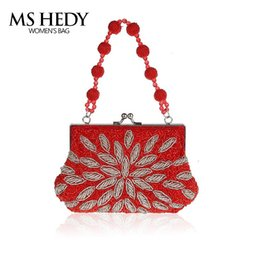 Wholesale industry gold - MS HEDY Lady Heavy Industry Beaded Embroidery Dinner Bag Women Evening Clutch Bag Bridal Wedding Party Clutch Women Luxury Brand