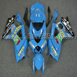 Pintura moto plástica online-23colors + 5Gifts capucha de moto azul claro para Suzuki muchos esquema de pintura K7 GSX-R1000 2007-2008 GSXR 1000 07 08 ABS Plastic Fairing