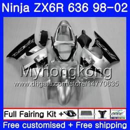 2019 kawasaki zx 6r 1998 verkleidung Gehäuse für KAWASAKI NINJA ZX-636 ZX-6R 1998 1999 2000 2001 2002 212HM.62 ZX600 600CC ZX636 ZX6R ZX6R Silvery blk neu 98 99 00 01 02 günstig kawasaki zx 6r 1998 verkleidung