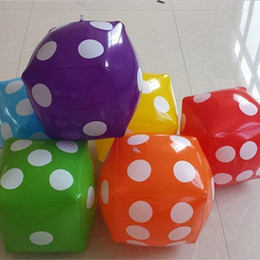 Wholesale draw bar - Large Size Funny Toy Inflatable Dice PVC Bar Annual Event Game Draw Prop Color Children Intelligence Toys 8 5rx W