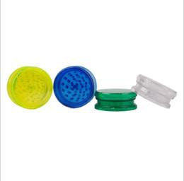 Molinillos de acrílico online-Molinillo de acrílico de tres capas, afilador, almacenamiento de tabaco para moler