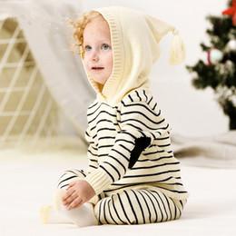 häkeln hoodies Rabatt Herbst Neugeborenes Baby Outfits Winter Outwear Infant Jungen Stricken Trainingsanzüge Baumwolle Häkeln Kleinkind Mädchen Sport Anzug Hoodies Hosen Set