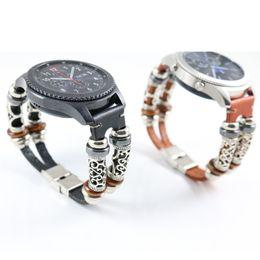 2019 ersatz für uhren Armband-Uhr 2018 Ersatz-Leder-Band-Bügel-Armband für Samsung-Gang S3 2018 Retro- Art Armband # 0703 günstig ersatz für uhren