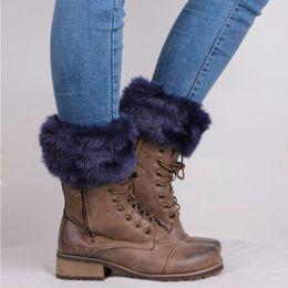 Wholesale Fur Trim Boots - Wholesale- Womens Winter Warm Crochet Knit Fur Trim Leg Warmers Cuffs Toppers Boot Socks