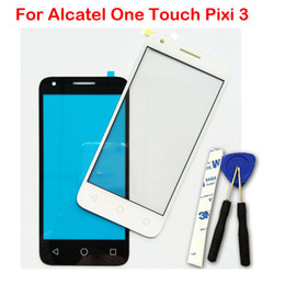 Wholesale screen for alcatel - Front Lens For Alcatel One Touch Pixi 3 4.5 4027D 4027X 4027 A5017 5017E VF795 Touch Screen Outer Glass New Original