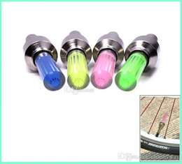 Wholesale Firefly Bicycle - 500pcs Firefly Spoke LED Wheel Valve Stem Cap Tire Motion Neon Light Lamp For Bike Bicycle Car Motorcycle