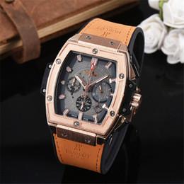 Wholesale Hb Glasses - all pointers work logo HB brand Men's Watches Run seconds Six pin Sports Wristwatches Masculino Relogio clock luxury brand men watch