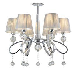 Moderna sala de estar de cristal, lámpara de araña, lujosa, cromada, hotel, arañas, tela, comedor, restaurante, lámpara colgante desde fabricantes