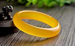 Wholesale Yellow Jade Bangles - Yellow 56mm-62mm 100% Chinese Grade Natural Agate Jade Gems Bracelet Bangle