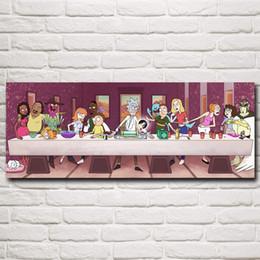 Deutschland Rick und Morty Rick Sanchez Cartoon Animation Art Silk Poster Druckt Wohnkultur Malerei 12x31 16x42 20x52 Zoll Freies Verschiffen Versorgung