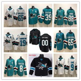 a3e9f184da513b 2019 San Jose Sharks 65 Erik Karlsson 8 Joe Pavelski 88 Brent Burns 19 Joe  Thornton 39 Couture 9 Evander Kane Third Alternate Black Jerseys