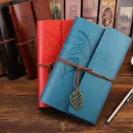 карманный спиральный блокнот Скидка 6 цветов ретро дизайн кожаный чехол ноутбуки личный дневник журналы повестки дня крафт-бумага Sketchbook ручной работы путешествия ноутбук подарок